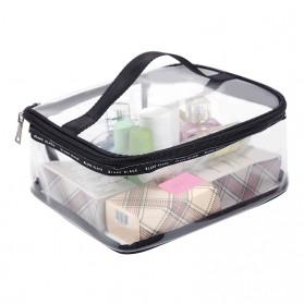 Tas Kosmetik Travel PVC Transparant Size L - Transparent