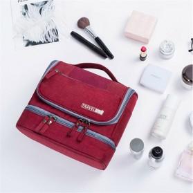 Tas Organizer Kosmetik Peralatan Mandi Travel Carry On - Black - 2