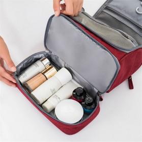 Tas Organizer Kosmetik Peralatan Mandi Travel Carry On - Black - 3