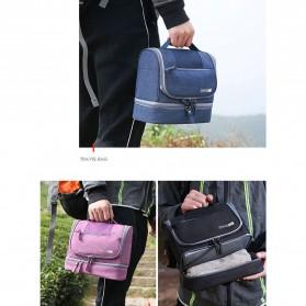 Tas Organizer Kosmetik Peralatan Mandi Travel Carry On - Black - 7