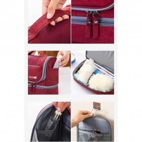 Tas Organizer Kosmetik Peralatan Mandi Travel Carry On - Black - 8