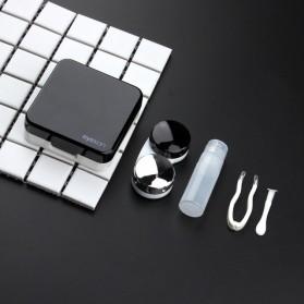 Tempat Menyimpan Contact Lens Reflective Mirror - Black