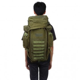 Tas Ransel Outdoor Hiking Camping Military 60L - 8045DLX - Green - 6