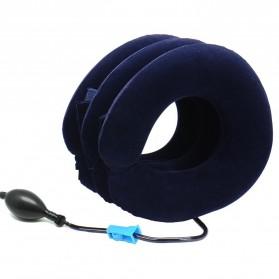 Urijk Bantal Leher 3 Lapis Inflatable Air Massage Pillow - M133345 - Blue