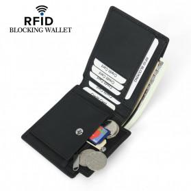 BUBM Dompet Kartu Anti RFID Bahan Kulit - YP-219 - Black