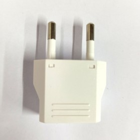 DelightFire Adapter dan Konverter Travel US ke EU 1 PCS - EP002 - White