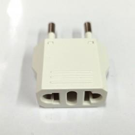 DelightFire Adapter dan Konverter Travel US ke EU 1 PCS - EP002 - White - 2