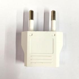 DelightFire Adapter dan Konverter Travel US ke EU 1 PCS - EP002 - White - 3