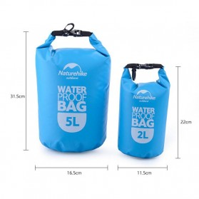 NatureHike Outdoor Waterproof Dry Bag 2 Liter - NH15S222-D - Blue - 5
