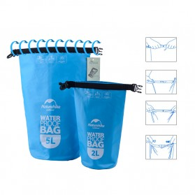 NatureHike Outdoor Waterproof Dry Bag 2 Liter - NH15S222-D - Blue - 8