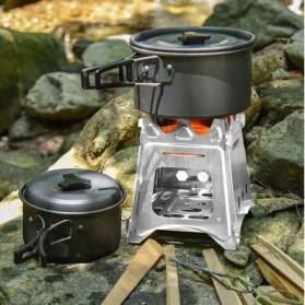 Aotu Pelindung Angin Kompor Portable untuk Camping - AT6308 - Silver
