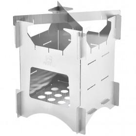 Aotu Pelindung Angin Kompor Portable untuk Camping - AT6307 - Silver - 2