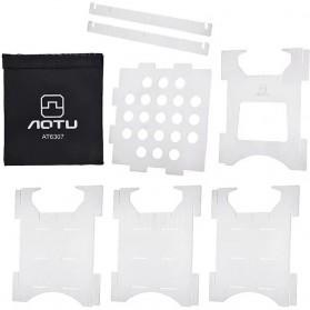Aotu Pelindung Angin Kompor Portable untuk Camping - AT6307 - Silver - 3