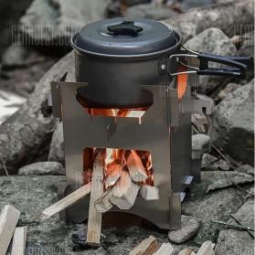 Aotu Pelindung Angin Kompor Portable untuk Camping - AT6307 - Silver - 5