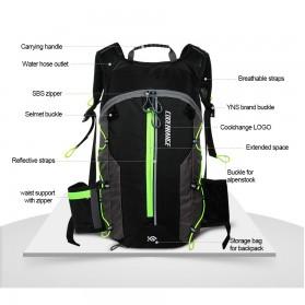 CoolChange Tas Ransel Gunung Hiking Sepeda Waterproof 10L - 03010 - Black - 6