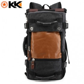 Laptop / Notebook - Kaka Tas Ransel Duffel Backpack Camping Travel - 0208 - Black