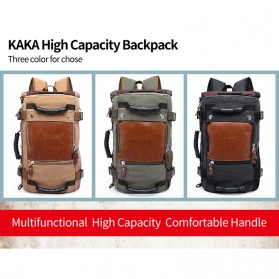 Kaka Tas Ransel Duffel Backpack Camping Travel - 0208 - Black - 8