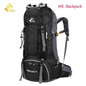 Free Knight Tas GunungTravel Hiking Camping Outdoor Adventure Waterproof 60L - FK039 - Black