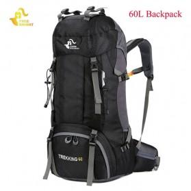 Olahraga & Outdoor - Free Knight Tas GunungTravel Hiking Camping Outdoor Adventure Waterproof 60L - FK039 - Black