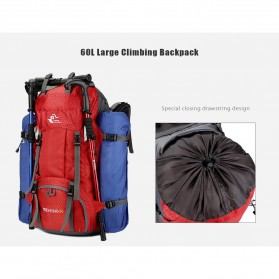 Free Knight Tas GunungTravel Hiking Camping Outdoor Adventure Waterproof 60L - FK039 - Dark Blue - 2