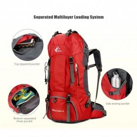 Free Knight Tas GunungTravel Hiking Camping Outdoor Adventure Waterproof 60L - FK039 - Dark Blue - 4