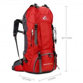 Free Knight Tas GunungTravel Hiking Camping Outdoor Adventure Waterproof 60L - FK039 - Dark Blue - 7