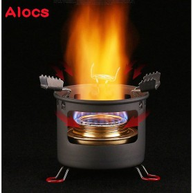 Alocs Kompor Gas Alcohol Stove Portable untuk Camping - CS-B13 - Black