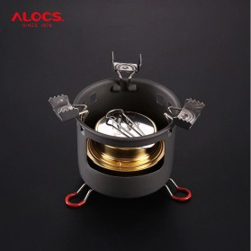 Alocs Kompor Gas Alcohol Stove Portable untuk Camping - CS-B13 - Black - 3