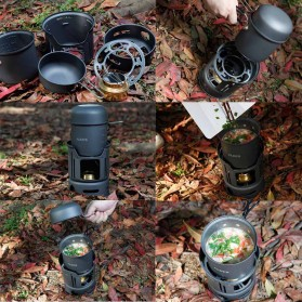 Alocs 7 in 1 Kompor Gas Alcohol Stove Portable untuk Camping - CW-C01 - Black - 6
