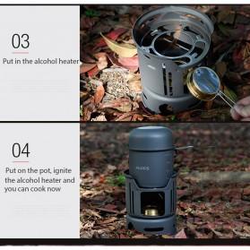 Alocs 7 in 1 Kompor Gas Alcohol Stove Portable untuk Camping - CW-C01 - Black - 8