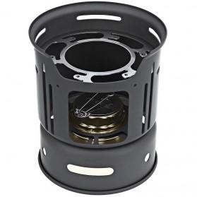 Alocs 7 in 1 Kompor Gas Alcohol Stove Portable untuk Camping - CW-C01 - Black - 2