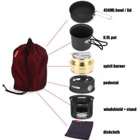 Alocs 7 in 1 Kompor Gas Alcohol Stove Portable untuk Camping - CW-C01 - Black - 4