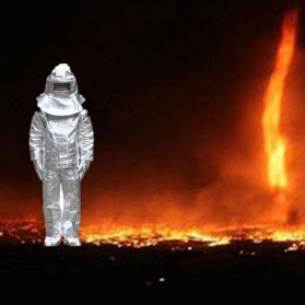 Pakaian Tahan Api Fireproof Heat Insulation Suit - LESHP - Silver