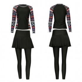 Baju Renang Wanita Diving Style Swimsuit Size L - 18010 - Black