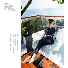 Baju Renang Wanita Diving Style Swimsuit Size L - 18010 - Black - 2