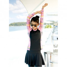 Baju Renang Wanita Diving Style Swimsuit Size L - 18010 - Black - 6