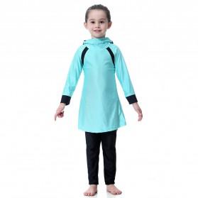 HANYIMIDOO Baju Renang Muslim Anak Perempuan Size 4XL 160 CM - H2010 - Blue - 2