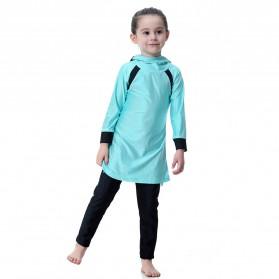 HANYIMIDOO Baju Renang Muslim Anak Perempuan Size 4XL 160 CM - H2010 - Blue - 3