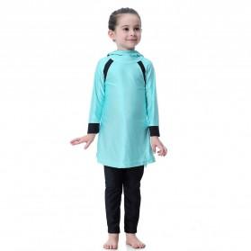 HANYIMIDOO Baju Renang Muslim Anak Perempuan Size 4XL 160 CM - H2010 - Blue - 4