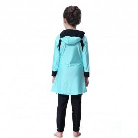 HANYIMIDOO Baju Renang Muslim Anak Perempuan Size 4XL 160 CM - H2010 - Blue - 6