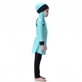 HANYIMIDOO Baju Renang Muslim Anak Perempuan Size 4XL 160 CM - H2010 - Blue - 9