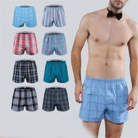 Celana Dalam Pria Classic Plaid Trunks Boxer Cotton Size XL - Nk01 - Multi-Color