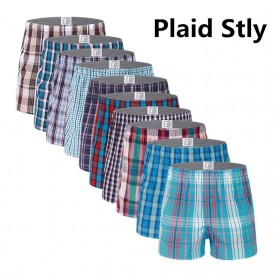Celana Dalam Pria Classic Plaid Trunks Boxer Cotton Size XL - Nk01 - Multi-Color - 3