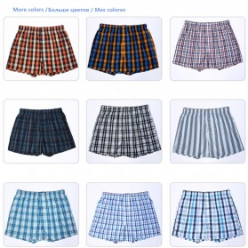 Celana Dalam Pria Classic Plaid Trunks Boxer Cotton Size XL - Nk01 - Multi-Color - 6