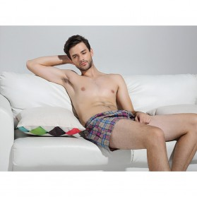Celana Dalam Pria Classic Plaid Trunks Boxer Cotton Size XXL - Nk01 - Multi-Color - 2
