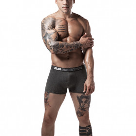 NAFORAN Celana Dalam Boxer Brief Pria Size XL - PH-508 - Black - 2