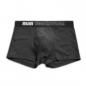 NAFORAN Celana Dalam Boxer Brief Pria Size XL - PH-508 - Black - 5