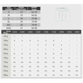 NAFORAN Celana Dalam Boxer Brief Pria Size XXL - PH-508 - Black - 7