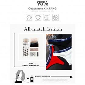 Cinvik Celana Dalam Wanita G-String Seamless Sports Underwear Size L - L9383 - Black - 7