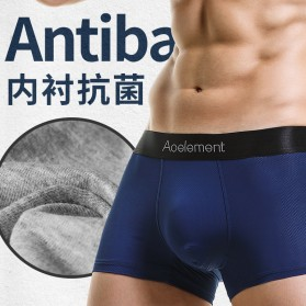 AOELEMENT Celana Dalam Boxer Pria Breathable Ice Mesh Hole Size L - AO500 - Black - 2
